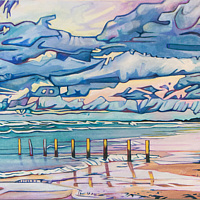 Oil painting Ipperwash by Claire Cepukas