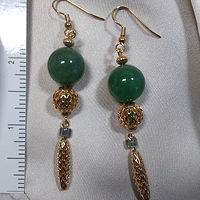 'Lucky Lady' Aventurine gemstone earrings by Sue Ellen Brown