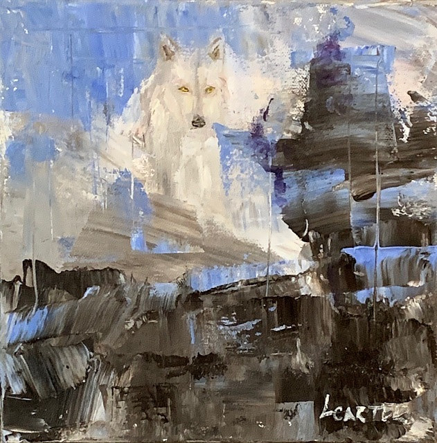 White Wolf, Gray Buffalo by Larry Carter