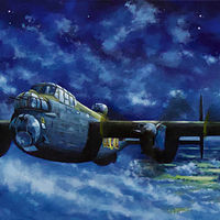 Home By Dawn- WWII Lancaster OLQ, 12x36 by Bryan  Coombes