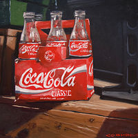 Painting Four Empty Cokes 10x10 by Bryan  Coombes