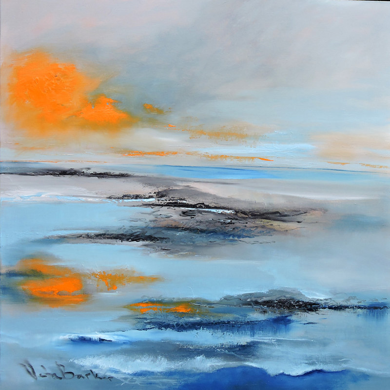 Oil painting Surface of the Sea. by Svetlana Barker