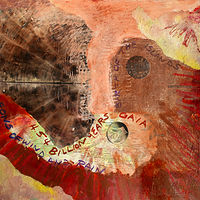 Mixed-media artwork Gaia  by Pamela Pitt