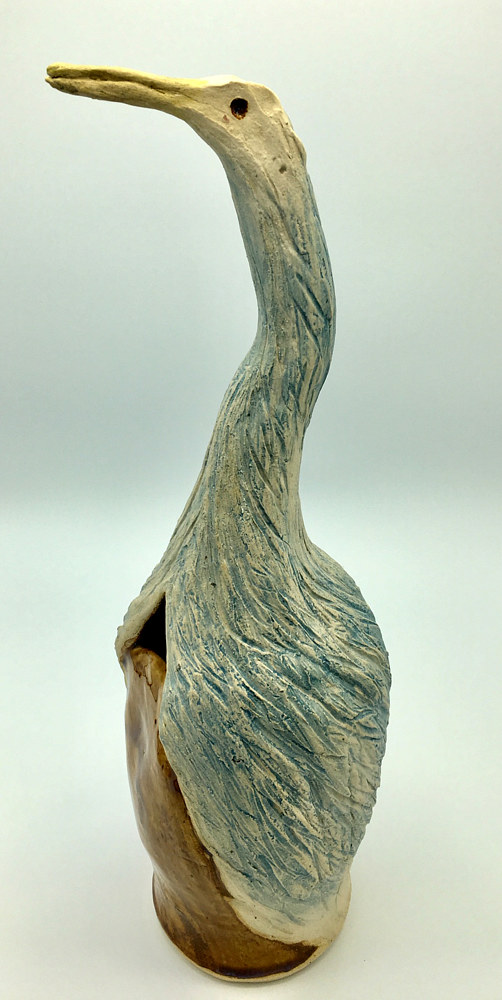 Single Bird Vase by Sharon V Smith