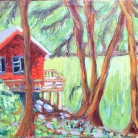 Echo Lake our favourite hideaway  by Dianne  Cuzner