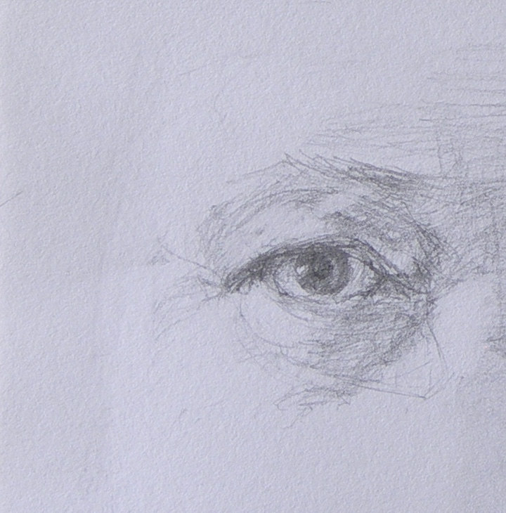 Drawing My right eye by Kumiko Buller