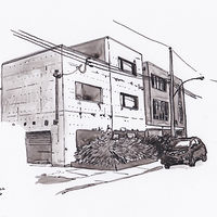 Drawing Architect House, Beaumont near Marconi by Graham Hall