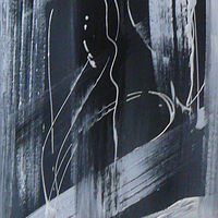 ABSTRACT  BW 12X36 SOLD by Wayne Pitchko