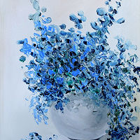Blue Bouquet. by Svetlana Barker