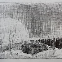 Drawing Wendy's Hill, Late March  by Harry Stooshinoff