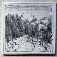 Drawing Beaver Dam Road by Harry Stooshinoff