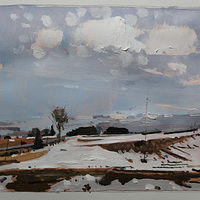 Acrylic painting Final Thaw by Harry Stooshinoff