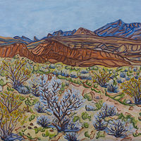 Oil painting Orange Hills by Crystal Dipietro