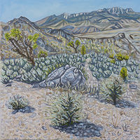 Oil painting Desert National Wildlife Refuge by Crystal Dipietro