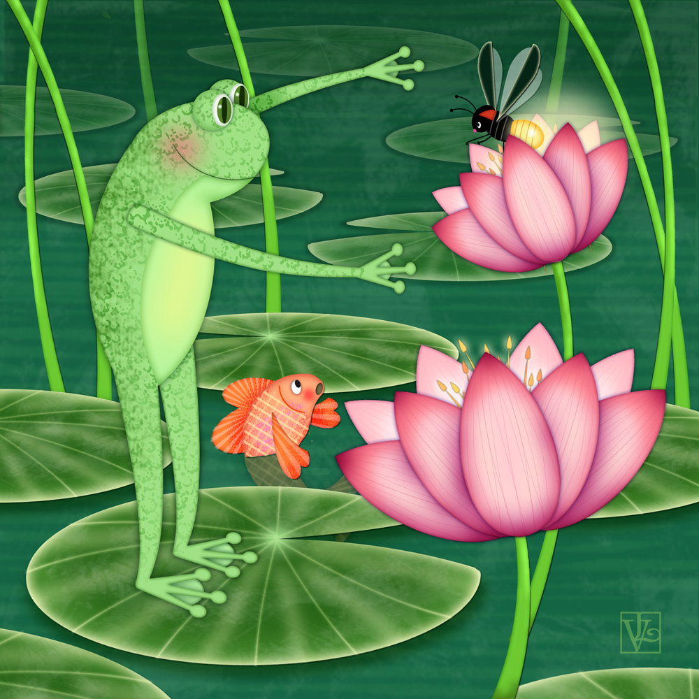 F is for Frog  by Valerie Lesiak
