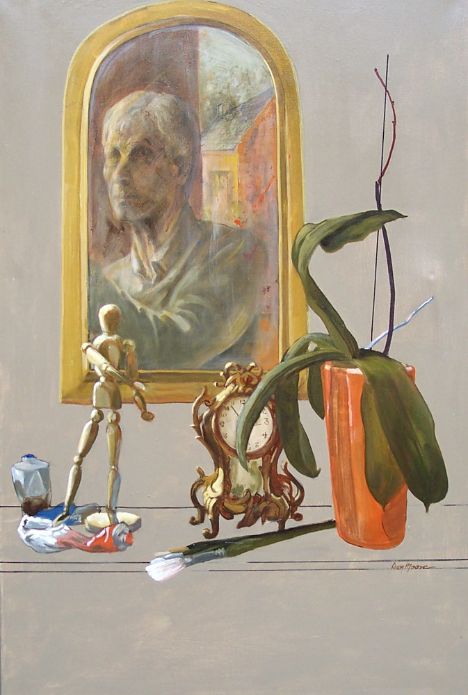 Still Life With Mirror by Don Moore