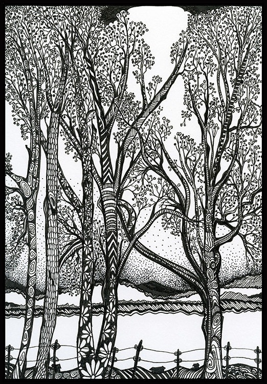 Print Farm Trees by Danielle Scott