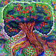 Print Tree of Eden (Color & Background) by Danielle Scott