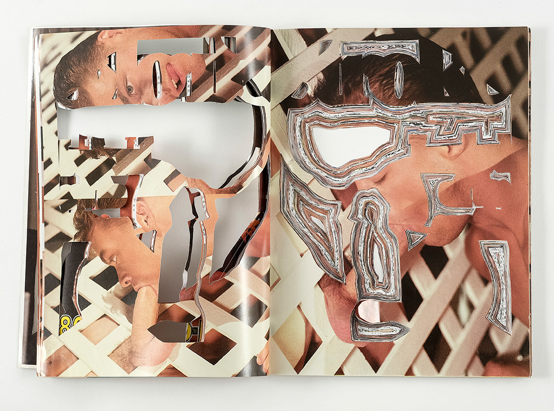 Sculpture Detail of of inside page spread, #1, Stroke Series by Emma Lehto