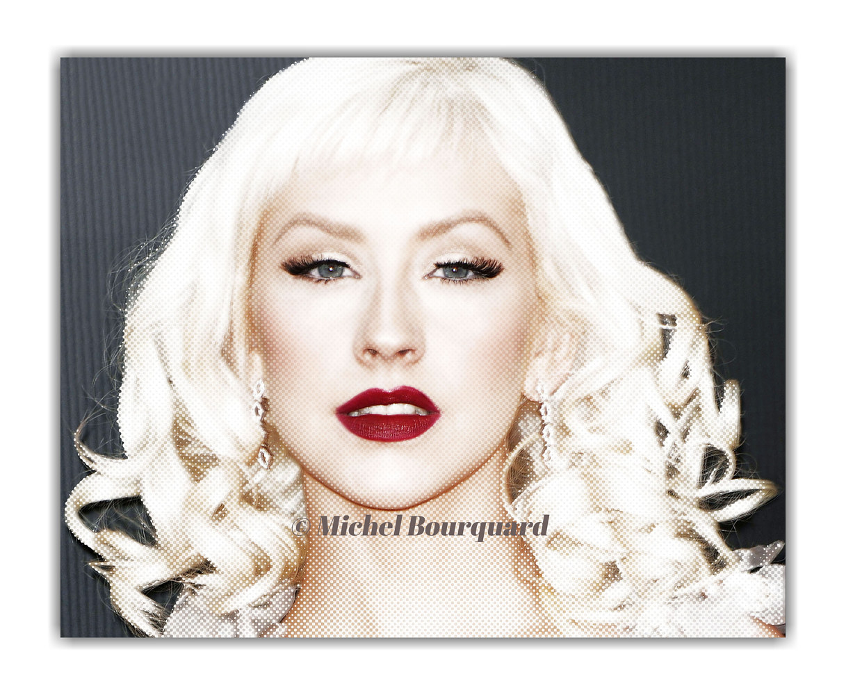 Christina Aguilera glow by Michel Bourquard