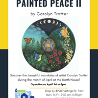 """Painted Peace II"" Burnaby Neighbourhood House 4908 Hastings St, Vancouver B.C. - April 2019 by Carolyn Trotter"