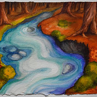 Watercolor She Flows by Lisa  Baechtle