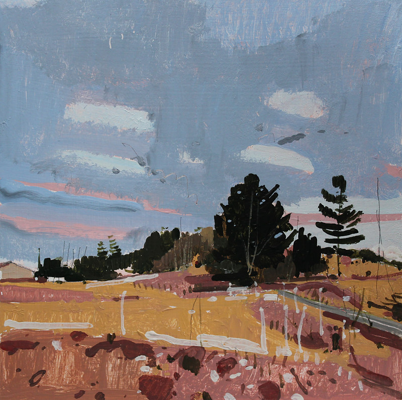 Acrylic painting Caesar's Road, April 12 by Harry Stooshinoff