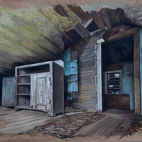 Mixed-media artwork Vanished by David B. Scott