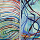 Oil painting Orbits/Pathways by Susan Sharp