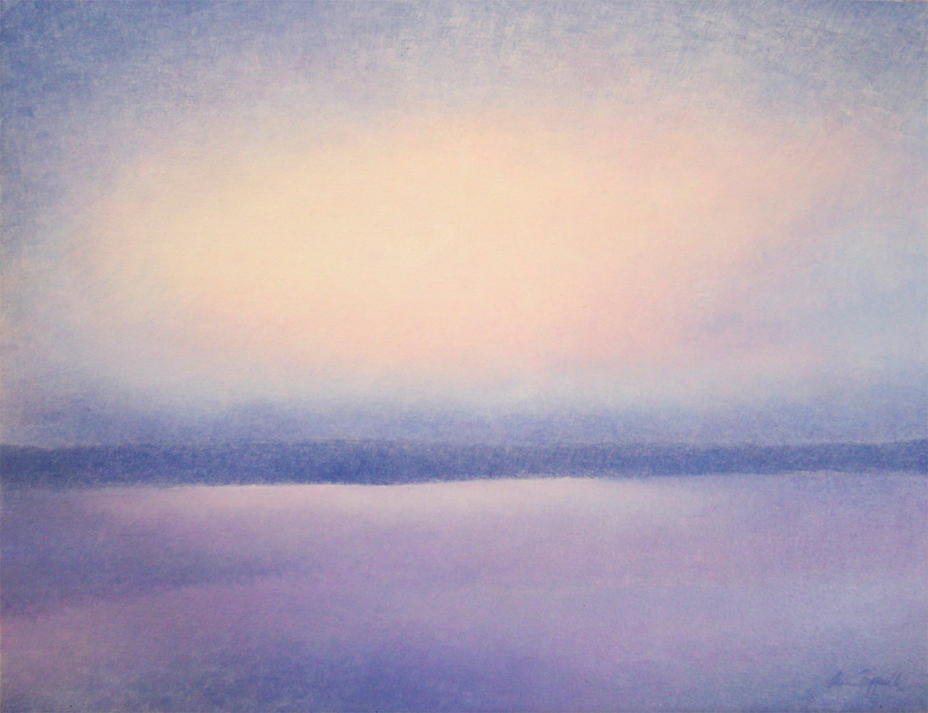 Acrylic painting Winter Sky Baja  by Anne Popperwell