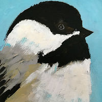 Acrylic painting Vale Perkins Chickadee #4, 2019 by Edith dora Rey