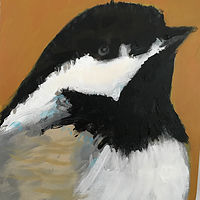 Acrylic painting Vale Perkins Chickadee #3, 2019 by Edith dora Rey