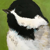 Acrylic painting  Perkins Chickadee #2, 2019 by Edith dora Rey