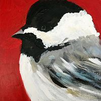 Acrylic painting Vale Perkins Chickadee #1, 2019 by Edith dora Rey