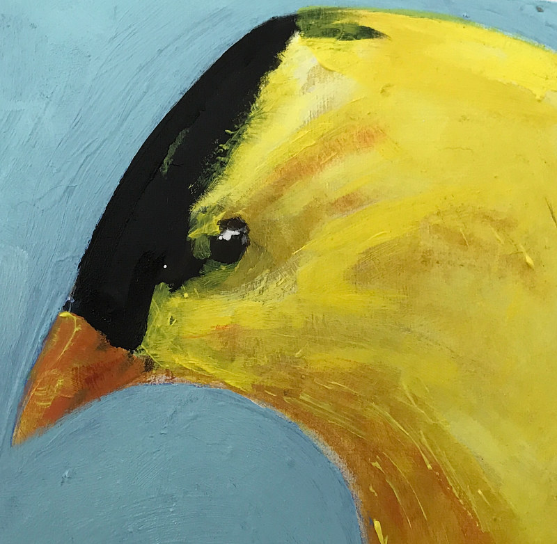 Acrylic painting Vale Perkins Goldfinch #2, 2019 by Edith dora Rey