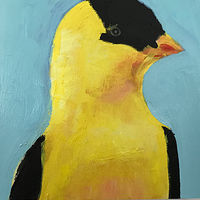 Acrylic painting Vale Perkins Goldfinch #1, 2019 by Edith dora Rey