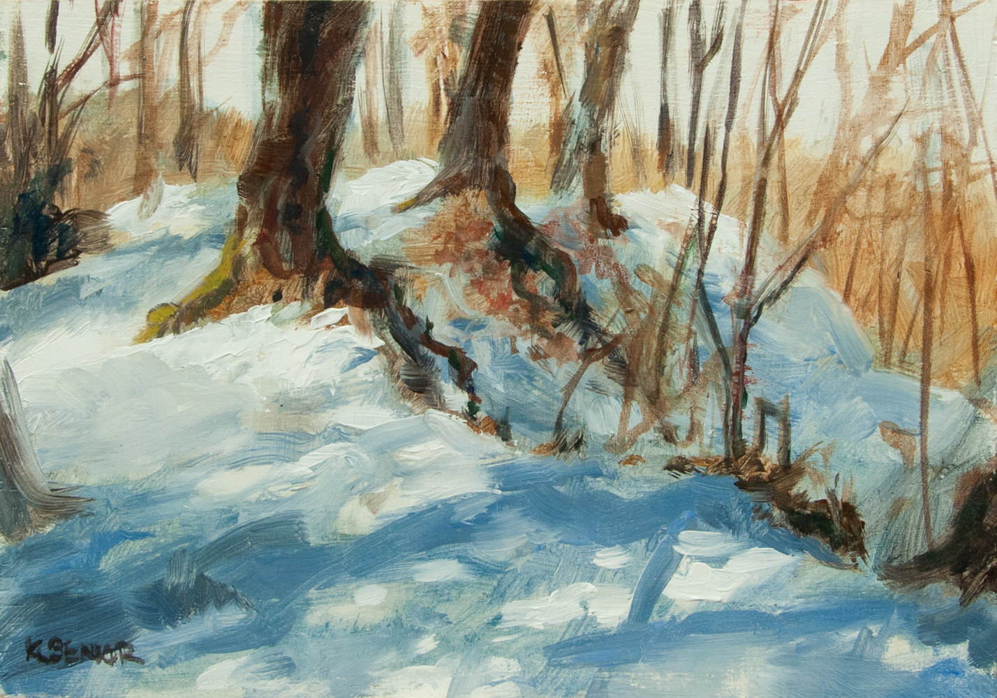 "Oil painting ""Steep Trail"" by Kimberley Senior"