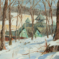 "Oil painting ""Winter Woods"" by Kimberley Senior"