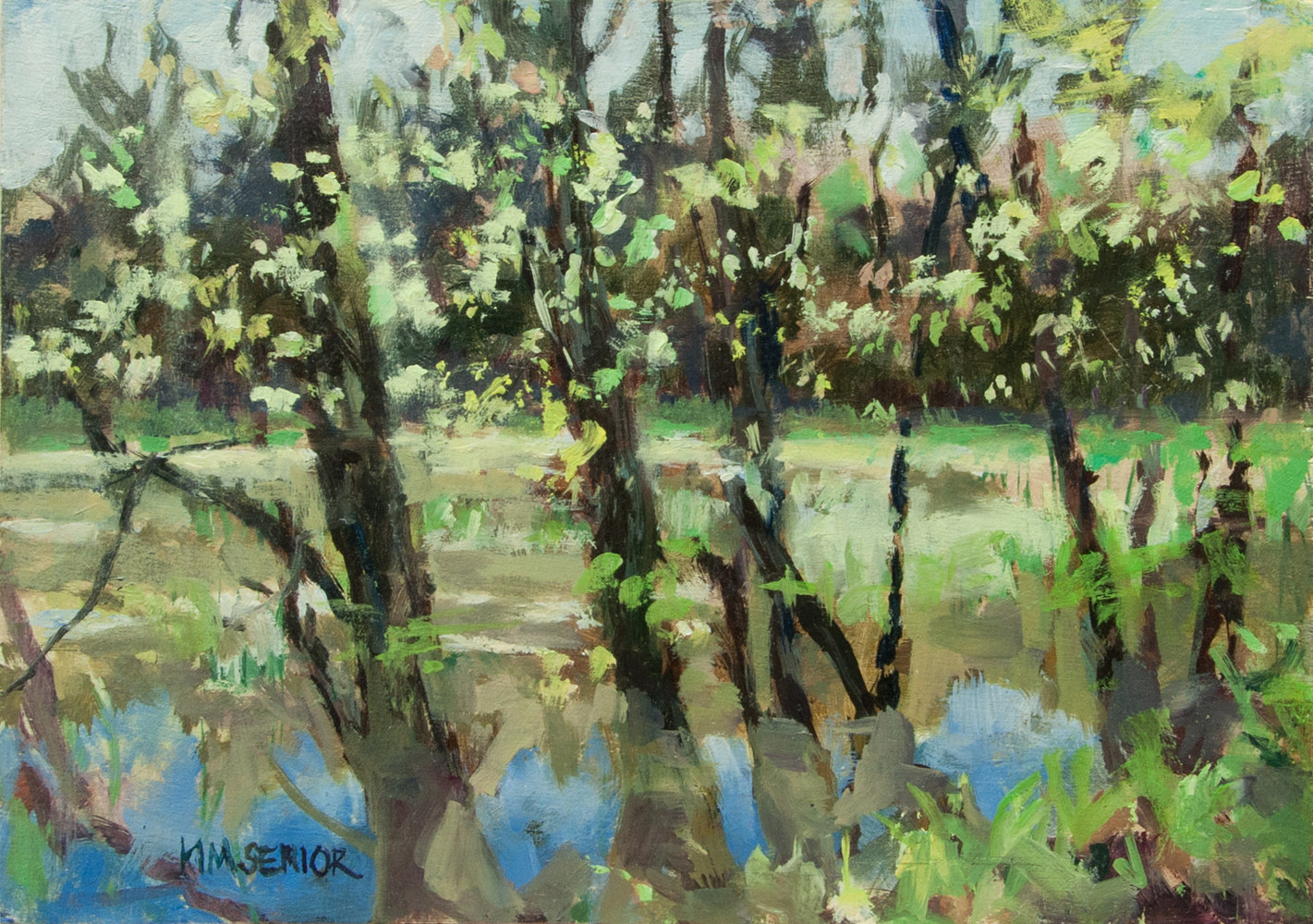 "Oil painting ""Spring Laplatte Marsh"" by Kimberley Senior"