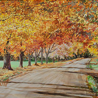 "Acrylic painting ""Maple Road"" by Kimberley Senior"