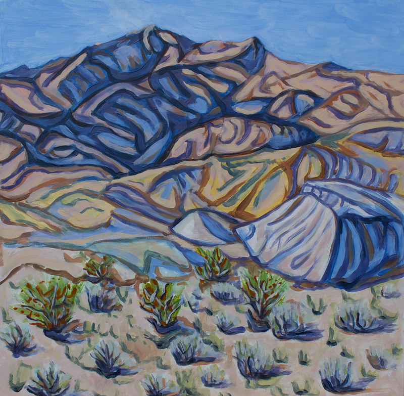 Oil painting Blue Hills by Crystal Dipietro