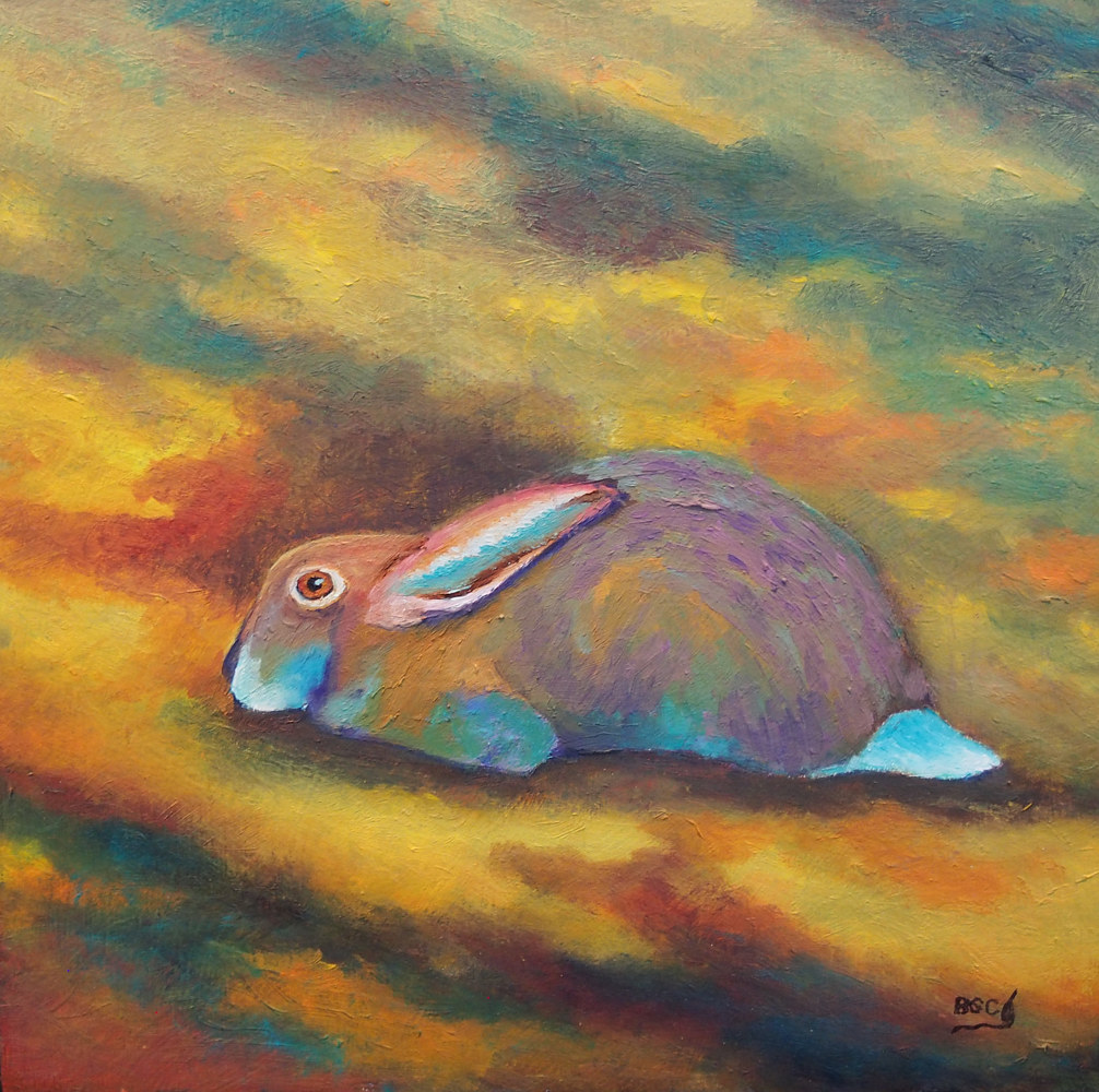 Oil painting Bunny by Brent Ciccone