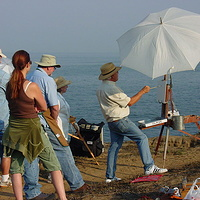 Robert Watts, Jeffs dad and one of the best plein air instructors by Brian  Buckrell