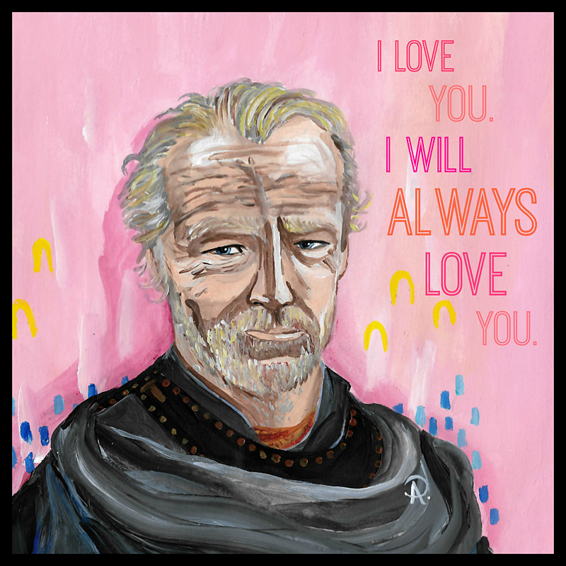 Acrylic painting Jorah by Amber N Petersen