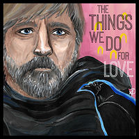 Acrylic painting The Things We Do For Love by Amber N Petersen