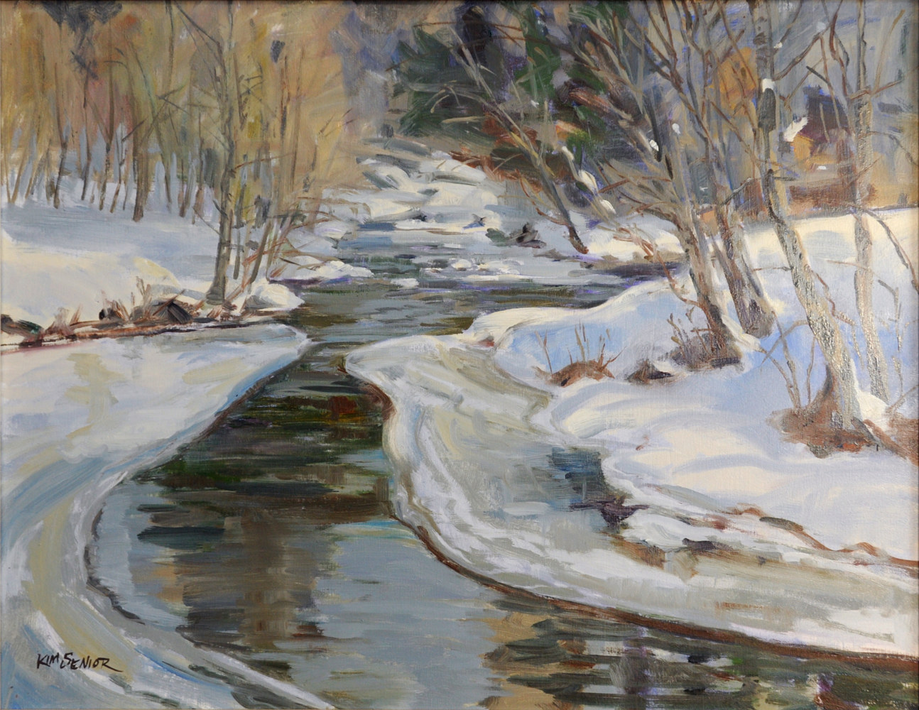 Oil painting Melting Ice Waterville by Kimberley Senior