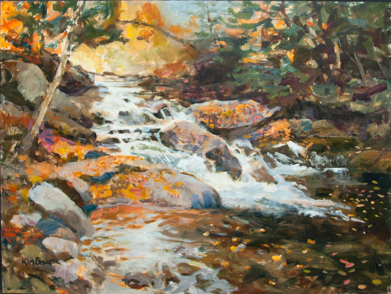"Oil painting ""Mad River Autumn"" by Kimberley Senior"