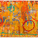 Acrylic painting Circus#10882013   30x120 by Edward Bock