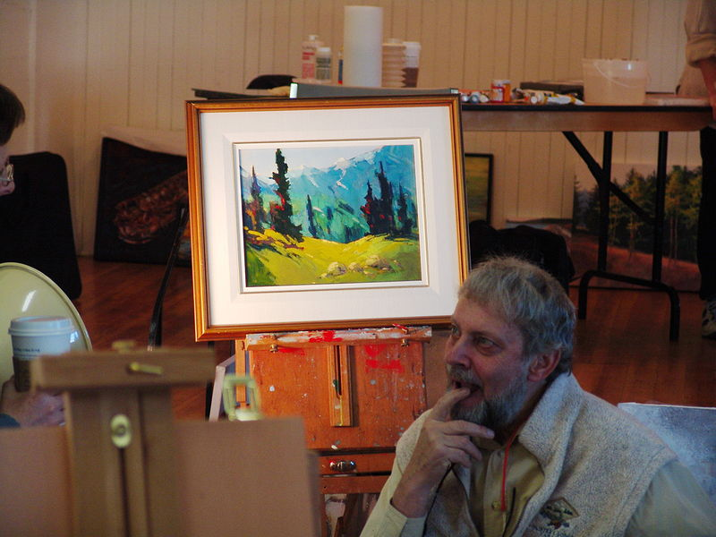 Roberty Genn, the great Canadian acrylic painter  by Brian  Buckrell
