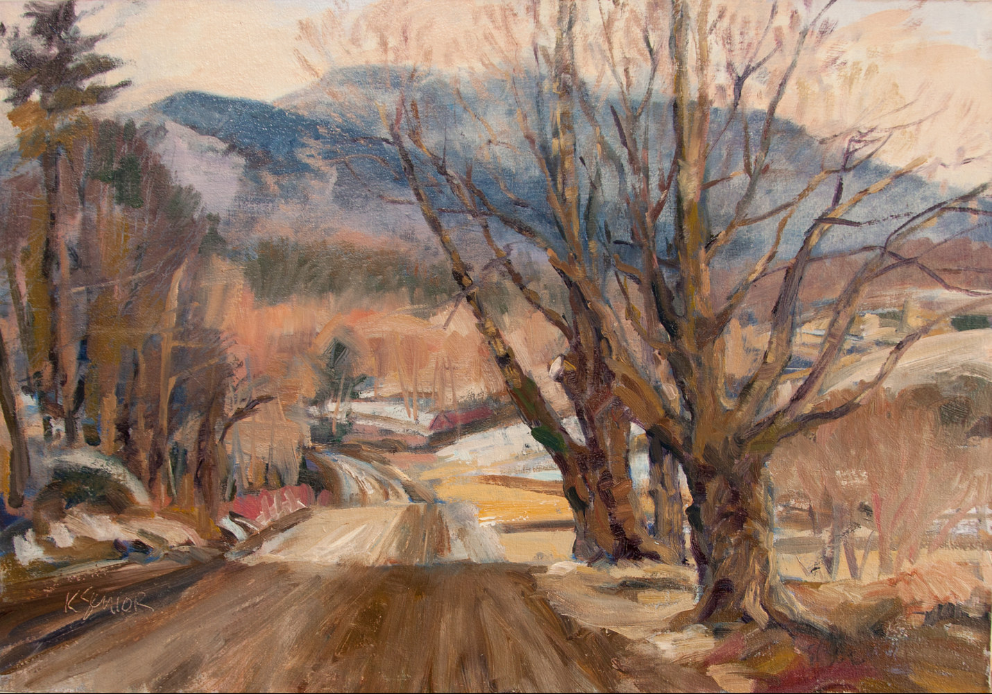 Oil painting Bryce Road by Kimberley Senior